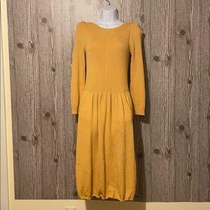St John By Marie Gray Long Sleeve Sweater Dress